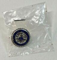 Vintage Sterling Silver-North-Carolina-A.F. & M.-Masonic-Lapel-Pin-25-year-Mason