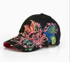 Fashion Baseball Cap Hats For Women Snapback Butterflies Flowers FemaLe