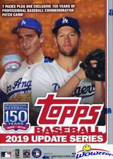 2019 Topps Update Baseball EXCLUSIVE Blaster Sealed Box-150th Anniversary PATCH
