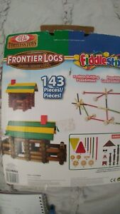 IDEAL TOYS FRONTIER LOGS AND FIDDLESTIX Used all pieces in photos