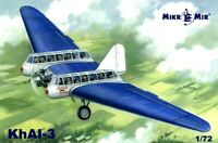 Mikro Mir 72-014 Passenger Airplane KhAI-3 Scale Plastic Model Kit 1/72