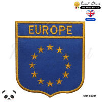 Europe Union Flag With Name Embroidered Iron On Sew On PatchBadge
