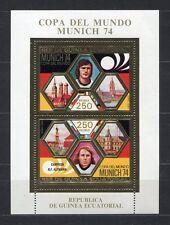 s5178) GUINEA EC. 1974 MNH** WC Football -CM Calcio S/S GOLD WINNER ALEMANIA
