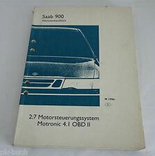 Werkstatthandbuch Saab 900 Motorsteuerungs - System Motronic 4.I OBD II ab 1996