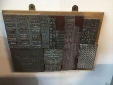 Vintage Letterpress Printing Blocks Wall Art