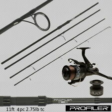 Carp Fishing Travel Rod and Reel 11ft 3.3M 2.75 TC 4pc Piece Carbon NGT Profiler