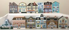 Excellent Complete 12 Days Of Christmas Cat's Meow Village Buildings & Packages