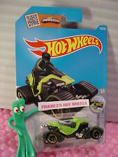 Case K/L 2016 i Hot Wheels SNOW STORMER #160✰Green/White snowmobile;gold✰Snow
