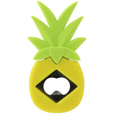 Yellow Pineapple Shaped Design Stainless Steel Beer Bottle Opener Soft Handle