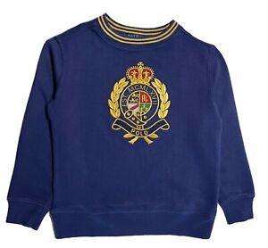 Boys Ex Ralph Lauren Medallion embroidery logo long sleeve sweatshirt top age 7