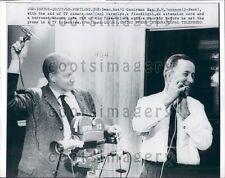 1960 US Senator H M Jackson Washington Shaves For TV Interview  Press Photo