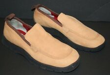 Pre-worn Women's Tommy Hilfiger Camel Nubuck Leather Slip-on Loafers sz 10 M