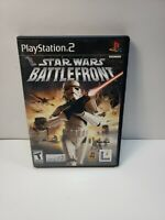 Star Wars: Battlefront (Sony PlayStation 2, 2004) No Manual TESTED