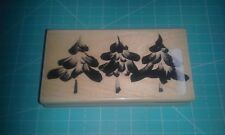 Penny Black wood mounted red rubber stamp - Snow Capped trees