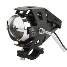 Moto Light CREE U7 LED Driving Lamp Motorcycle Headlight Blue Angle Eye+switch