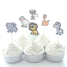 12 Jungle Animals Cupcake Picks Toppers