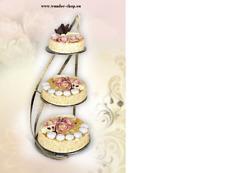 Tortenständer  für 3  Kuchen Hochzeit Geburstag Fest Party  (1090)