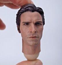 "1/6 scale Head Sculpt Christian Bale Bruce Wayne Fit 12"" hot toys figure body"
