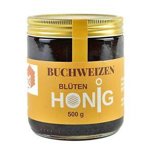 Buchweizenhonig aus Deutschland,500 g herb würziger dunkler  Honig