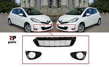 FOR TOYOTA YARIS 2011-2014 FRONT BUMPER FOGLIGHT GRILLE PAIR WITH CENTER GRILLE
