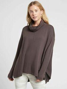 ATHLETA Ethereal Brushed Funnel Neck XL Shale SOFT Sweatshirt
