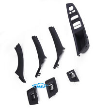 Black Door Handle Recessed Grip Switch Panel Kit Fit For BMW 528i 530i 535i
