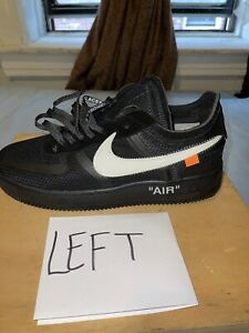 💥SINGLE ONLY 'Left' Nike Air Force 1 Low Off White Size: (10) ‼️SINGLE - LEFT