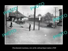 OLD 6 X 4 HISTORIC PHOTO OF PONCHATOULA LOUISIANA RAILROAD DEPOT STATION c1940 2