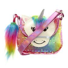 Rainbow Unicorn Sequin Purse Handbags for Kids Bag for Girls White Glitter NWT