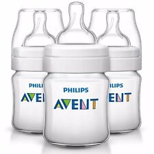 Philips Avent Classic+ Baby Feeding Anti-Colic Bottle 125ml - SCF560/37 (3 Pack)