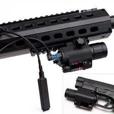 Tactical Red Laser Sight Scope & Q5 LED Flashlight Combo Picatinny Mount