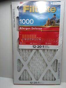 Filtrete AC Furnace HVAC Home Dust Air Filter Allergen Defense 10x20x1 4-Pack