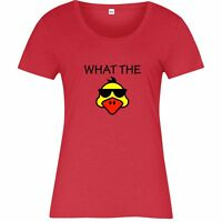 What The Duck T-Shirt, WTF Funny Design Inspired Spoof Ladies Top