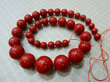 New 100% Real Coral Red AAA+ 8-18mm turriform shell pearl necklace 18''