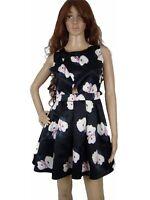 Mags Women Dress Silk Pinup Skater Shiny Look Sleeveless Summer Spring M Petite