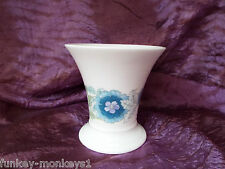 Vintage Wedgwood  Clementine Posy Vase Pretty Blue Floral Design