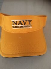 US Navy visor yellow new with tag