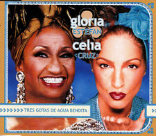 GLORIA ESTEFAN Y CELIA CRUZ - TRES GOTAS DE AGUA BENDITA CD SINGLE 2 TRACKS PROM