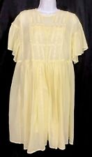 isabel marant etoile Dress Annaelle Light Yellow Short Sleeve Cotton Nwt Size 36