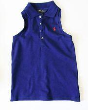 Ralph Lauren Girls Sleeveless Polo Shirt Fall Royal Sz XL (16) - NWT