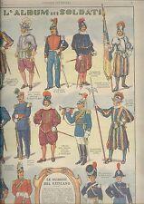 CORRIERE DEI PICCOLI anni 30 Guardie svizzere  Vaticano soldatini planche
