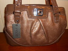 NWT GUESS GROSSETO TAUPE TOTE HANDBAG 100% AUTHENTIC