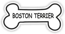BOSTON TERRIER BONE STICKER BREED NAME DOG FOOD BOWL PUPPY PET VINYL DECAL