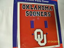 University of Oklahoma Sooners NCAA football double light switch plate cover New