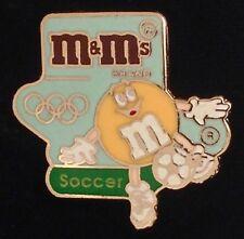 Soccer/Football Olympic Pin Badge ~ Barcelona ~ 1992 ~ Sponsor: M&Ms Mars