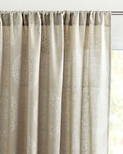 Serena and Lily Lucia Linen Window Panel, Flax w/ Silver, 50 x 96 - NIP, LOVELY