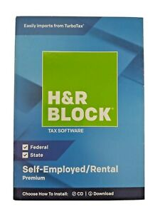 H&R Block Premium 2018 Self-Employed/Rental Property Owners Tax Software PC Mac