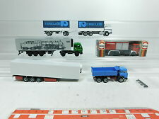 bb276-0,5 #5x Herpa H0 / 1:87 Truck / Trailer Renault / MB / Iveco / Man: FW