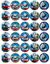 30x Thomas The Tank Engine Cupcake Toppers Edible Wafer Paper Fairy Cake Toppers