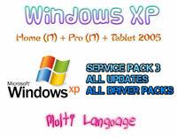 WINDOWS XP HOME (N) + PROFESSIONAL (N) + TABLET EDITION 2005 | MULTI LANGUAGE